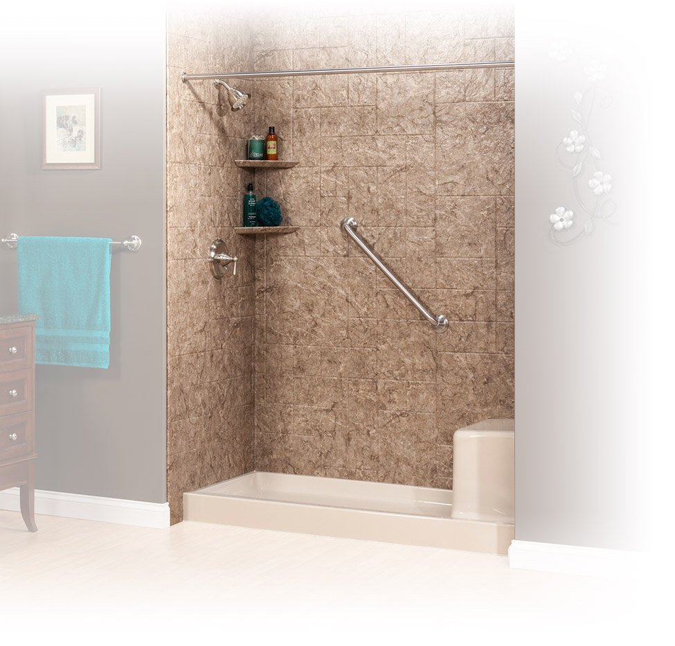 Tub To Shower Features