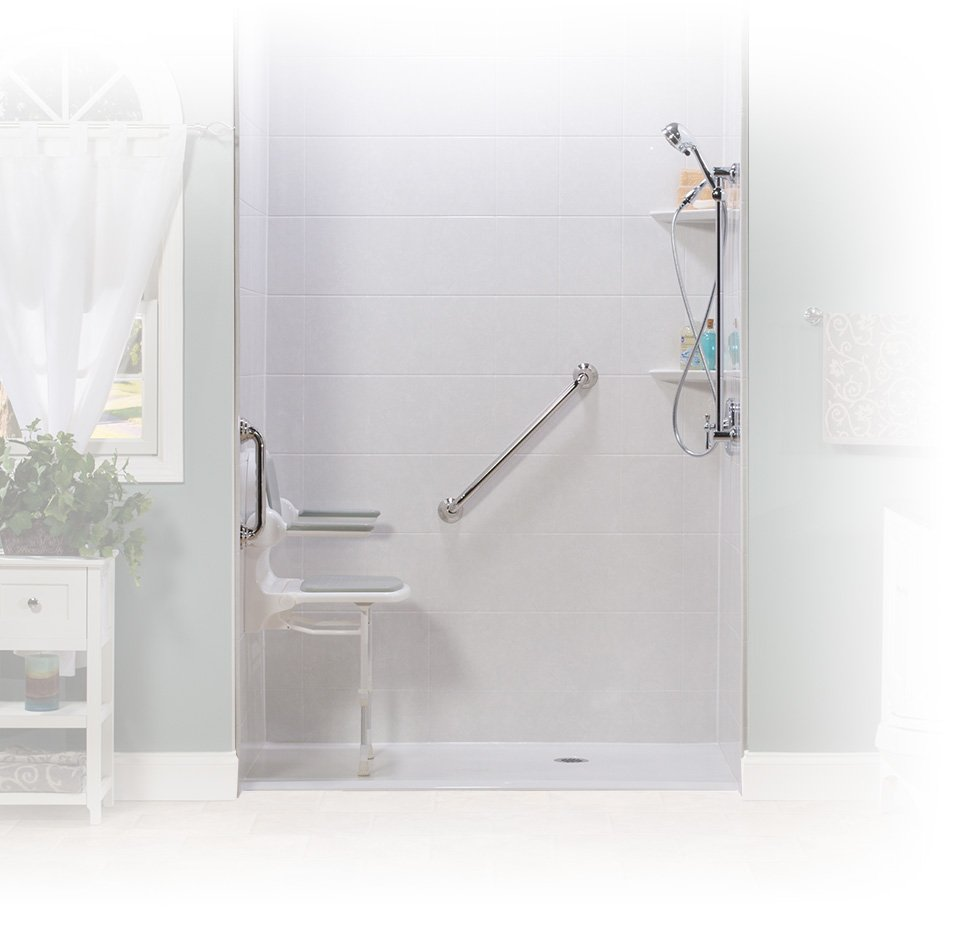 contractors bath craft accessible shower projects no handicap threshold custom